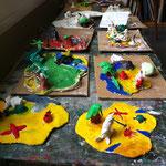 Inseln aus dem Workshop 'Fantastische Inselwelt'