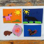 Kunterbunte Magnete vom Kinderkulturfestival 2018 in Duisburg