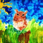 Acrylmalerei eines Hamsters