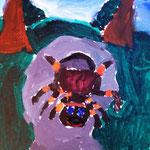 Acrylmalerei aus einem Kindergeburtstags-Workshop