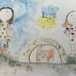 Kunstwerk aus einem Privatworkshop für Kinder