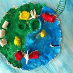 Trauminsel aus dem Schulprojekt 'Fantastische Inselwelt'
