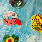 Trauminseln aus dem Schulprojekt 'Fantastische Inselwelt'