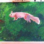 Kunstwerk aus einem Privatworkshop zum Thema 'Acrylmalerei auf Leinwand'