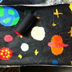 Raketenbild aus dem Workshop 'Fantastische Inselwelt'