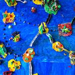 fertige 'Fantastische Inselwelt' bei der Abschlussausstellung