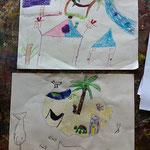 Zeichnungen aus dem Workshop 'Fantastische Inselwelt'