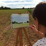 Sommer-Special-Workshop 'Acrylmalerei in der Natur' auf einem Feld