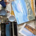Landschaft aus dem Workshop 'Acrylmalerei auf Leinwand'