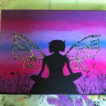 Acrylmalerei einer dauerhaften Schülerin