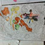 Zeichnung aus dem Workshop 'Fantastische Inselwelt'
