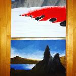 Acrylgemälde aus einem Pärchen-Workshop