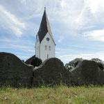 Kirche in Nebel. So heisst die Ortschaft auf Amrum