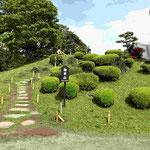 A Hill at  Hamarikyu Japanese Gardens.