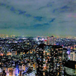 Night View of Tokyo from Tokyo City View in Roppongi.