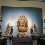 Historic Buddha Statues Exhibited at National Museum in Ueno.