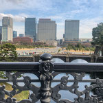 View from Nijubashi Bridge at Imperial Palace in Tokyo.