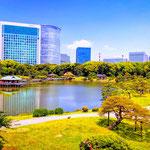 Hamarikyu Japanese Gardens.