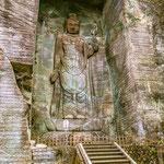 A big Stone Buddha Statue in Mount Nokogiri, Chiba.