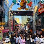 At the entrance of Takeshita Fashion Street in Harajuku.