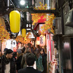 Omoideyokocho, an Alley with a Lot of Local Japanese Bars in Shinjuku.