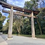 The Tallest Torii Gate (Entrance Gate at Shrines) in Japan at Meiji Shrine.