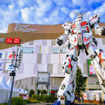 Divercity, a Large Shopping Mall and The Gundam Statue, Odaiba.