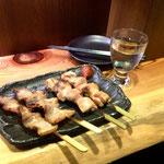 Yakitori at a Bar in Omoideyokocho, (Memory Lane) in Shinjuku.