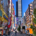 At Kabukicho Street with Godzilla Statue in Shinjuku.