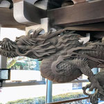Carving of a Dragon at Taishakuten Temple, Katsushika.