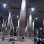 Inside the Metropolitan Area Outer Underground Discharge Channel. It is used to prevent floods in the Tokyo areas. Tours are available!