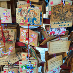 Picture tablets where wishes are written at Kanda Myojin Shrine.
