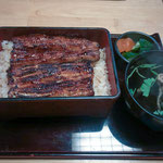 Grilled Eel with Rice at an Eel Restaurant in Tokyo.