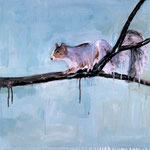 Squirrel (II), 1996 Oil on canvas, 26 x 26 inches