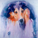 Dodger, 1998 Oil on canvas, 40 x 40 inches