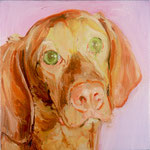 Juanita, 1999 Oil on canvas, 13 x 13 inches