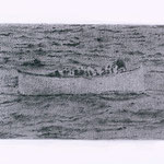 Lifeboat (#5), 2000 Graphite on paper, 12 5/8 x 19 3/4inches