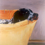 GSH, 1998 Oil on canvas, 26 x 26 inches