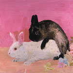 Bunnies Mating, 2003 Oil on canvas, 20 x 26 inches