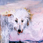 Shirley, 1995 Oil on canvas, 26 x 26 inches