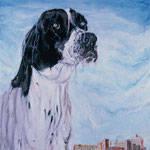 Henry, 1995 Oil on canvas, 26 x 26 inches