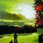 Breckenridge, 2013 Oil on canvas, 18 x 18 inches