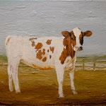 Cow, 2002 Oil on canvas, 16 x 20 inches
