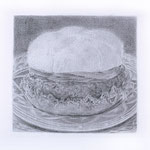 Steakburger (#1), 2000 Graphite on paper, 12 5/8 x 19 3/4 inches