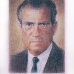 Nixon (color), 2000 Colored pencil on paper, 19 3/4 x 12 5/8 inches