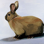 First Bunny, 2003 Oil on canvas, 16 x 20 inches