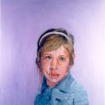 Tracie, 1997 Oil on canvas, 26 x 26 inches