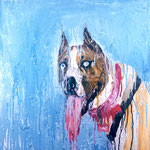 Buster, 1994 Oil on canvas, 26 x 26 inches