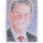 Reagan (#1), 2000 Colored pencil on paper, 19 3/4 x 12 5/8 inches