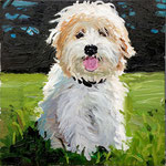 Minnie, 2012 Oil on canvas, 10 x 10 inches